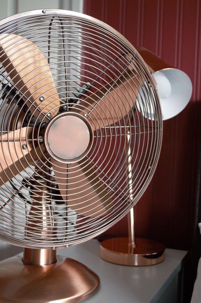 Copper fan from Dunelm Mill