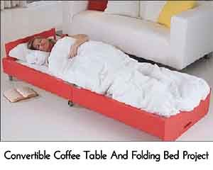 Convertible Coffee Table And Folding Bed Project