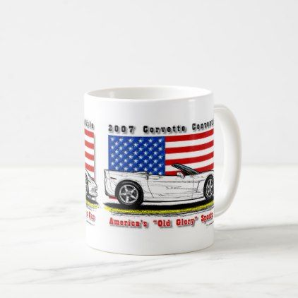 2007 Corvette Convertible Coffee Mug - diy individual customized design unique ideas