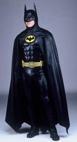 Michael Keaton as Batman.