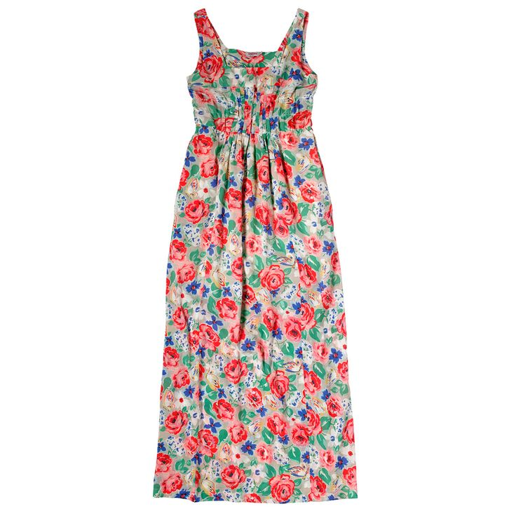 Padstow Rose Crinkle Maxi Dress   Cath Kidston  