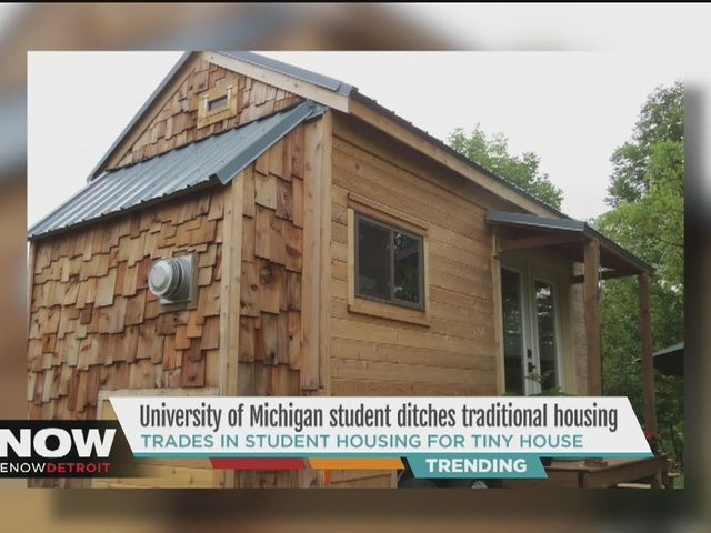 A university of michigan student is ditching traditional student housing for what many would call just building a tiny houseuniversity