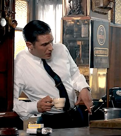 #gif_of_hardy Tom Hardy as Ronald Kray in Legend (2015)