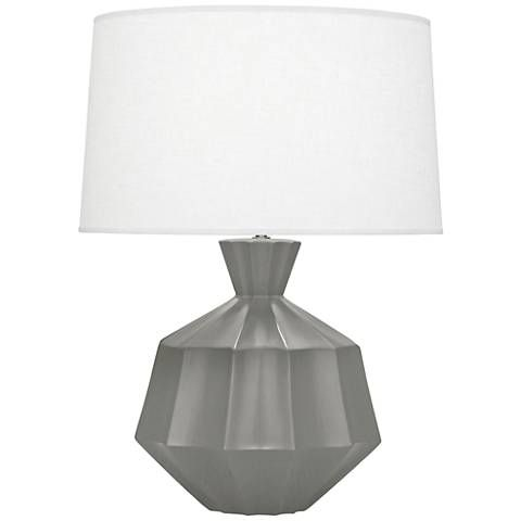 Robert Abbey Orion Matte Smoky Taupe Ceramic Table Lamp - #9R952 | Lamps Plus
