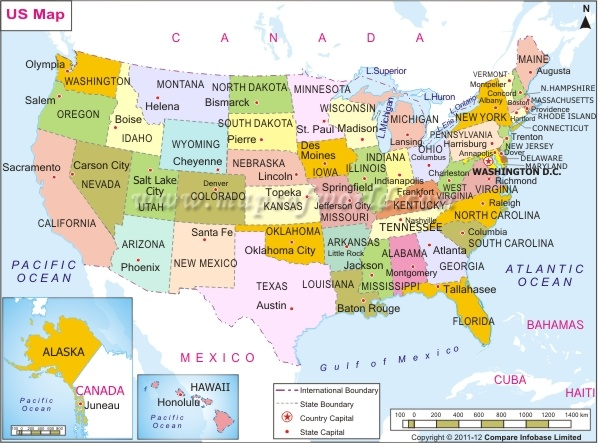 Best AMERICAS STATES AND CAPITALS Images On Pinterest - Usa map capitals