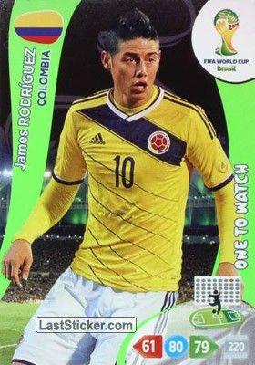 Card 84: James Rodríguez - Panini FIFA World Cup Brazil 2014. Adrenalyn XL - laststicker.com