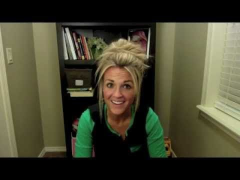 How to do a messy bun--best and quickest tutorial I've seen! #hair #style #beauty