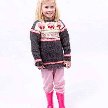 My Little Girl's Fair Isle Tunic designed by Cathy Payson (Red Heart) A fairly quick knit, considering there's Fair Isle and Intarsia techniques to create this sweet tunic. Perfect for winter weather, it has bright contrast for that extra burst of colour. Read more in our Winter 2016 issue. Download the PDF - FREE Pattern