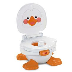 Toddlers starting the training process love reinforcements and character friends that make them want to try again and again. And you'll love this potty gives you three products in one!  A little ducky friend to visit, and music and sounds when they'