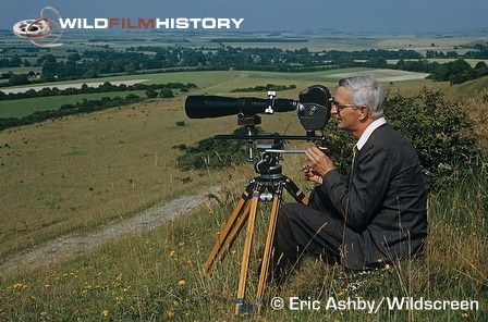 Eric Ashby filming on hillside THE WORLD ABOUT US (1967 - 1987): CRANBORNE CHASE (1973)