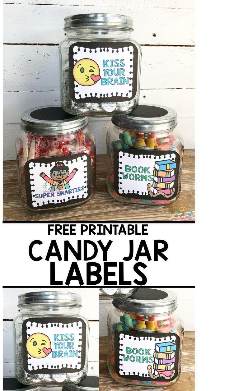 Free Printable Candy Jar Reward Labels