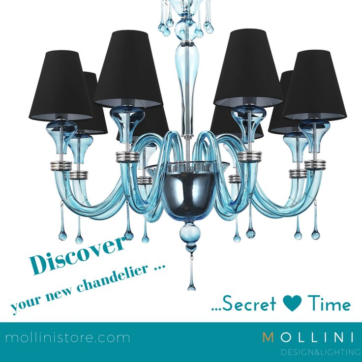 SECRET TIME BLUE👉792,28 euro👉https://goo.gl/RfSqXp ✔ #classic, #timeless form ✔ decorative #tear #drops ✔ brings to mind #French #style of #interior #decoration ✔ #exclusive source of #light ✔ important element of #decoration ✔ available in three colours ✔ Guarantee  #glass #murano #italian #crystal #blue #hanginglamp #chandelier #designers #mollini