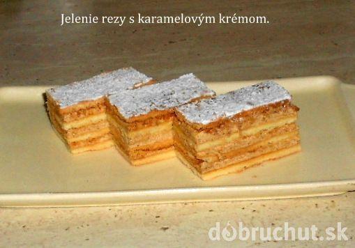 Fotorecept: Jelenie rezy s karamelovým krémom