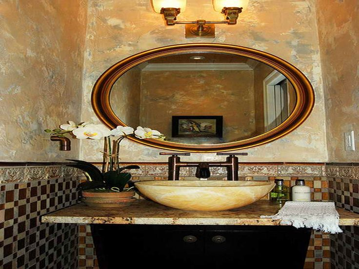 9 Best Images About Bathroom On Pinterest Oval Mirror