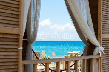 view  the sea from window of House