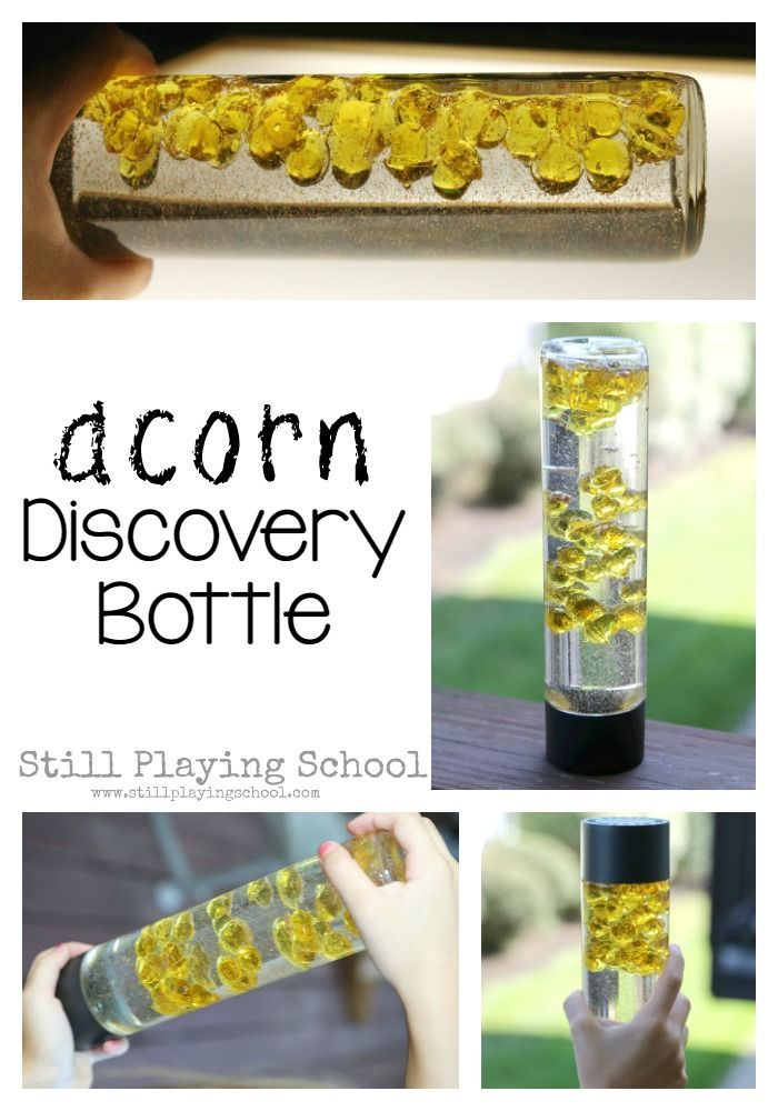 This fall acorn discovery bottle is perfect for autumn sensory play!