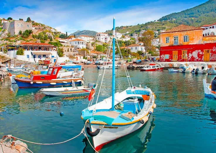 Fishing Boats in #Hydra Island, #Greece.  http://www.cycladia.com/travel-guides-greece/hydra-guide-tips/