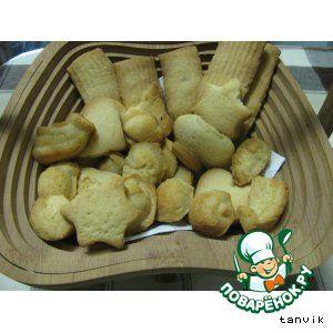 Песочное печенье с кукурузными хлопьями