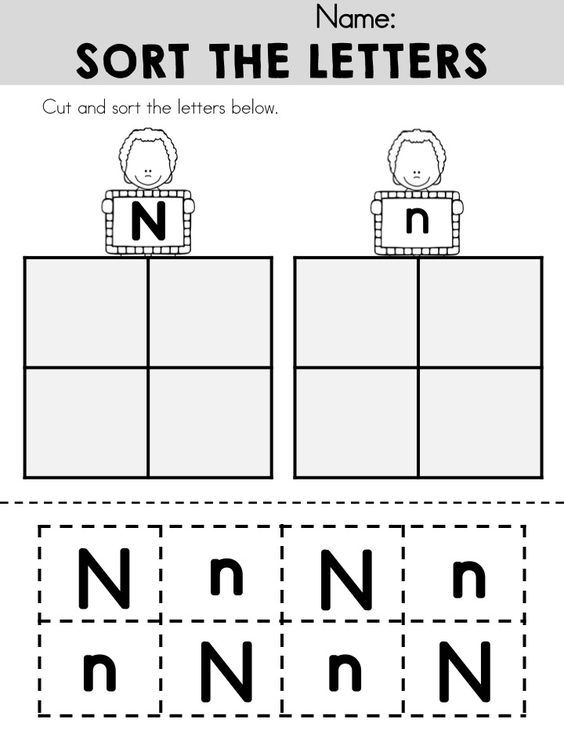 Number Names Worksheets letter n worksheets kindergarten Free – Letter N Worksheets for Kindergarten