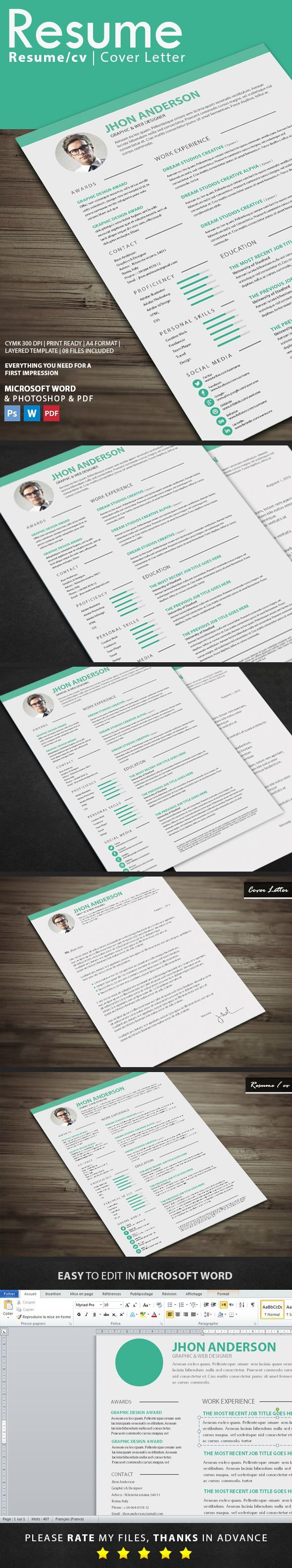 Resume by graphicstoll ResumeResume template pack for