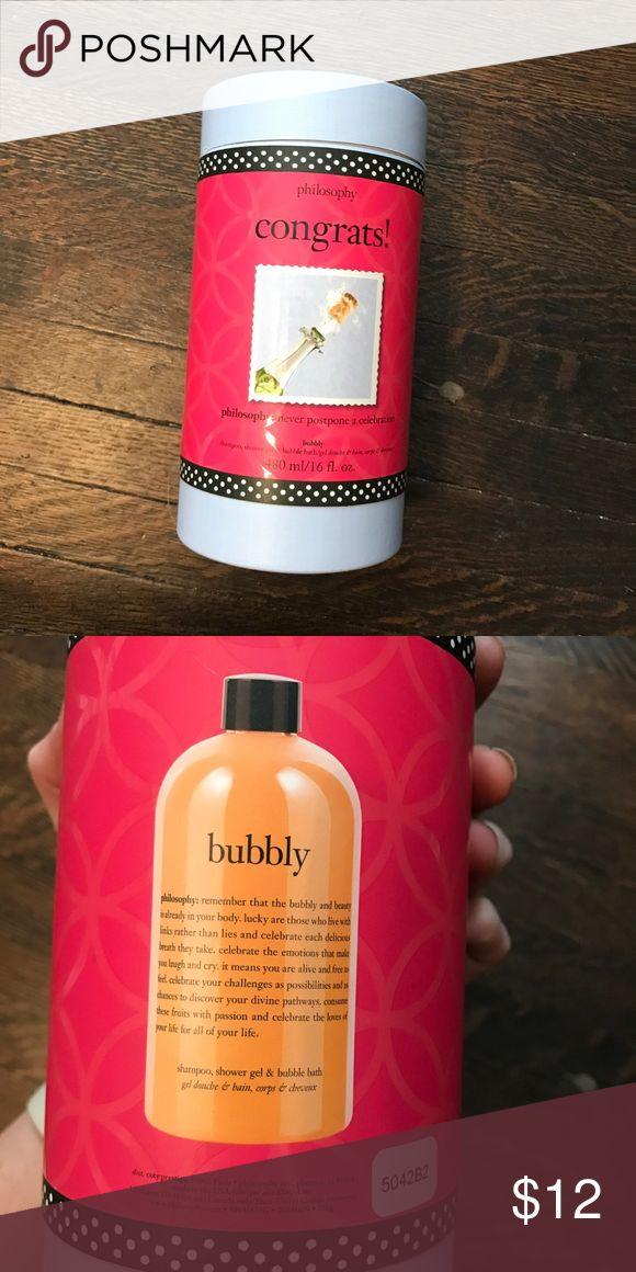 Philosophy Bubbly Bubble Bath - Champagne Brand new. Champagne Bubbly Bubbe bath. Philosophy Makeup