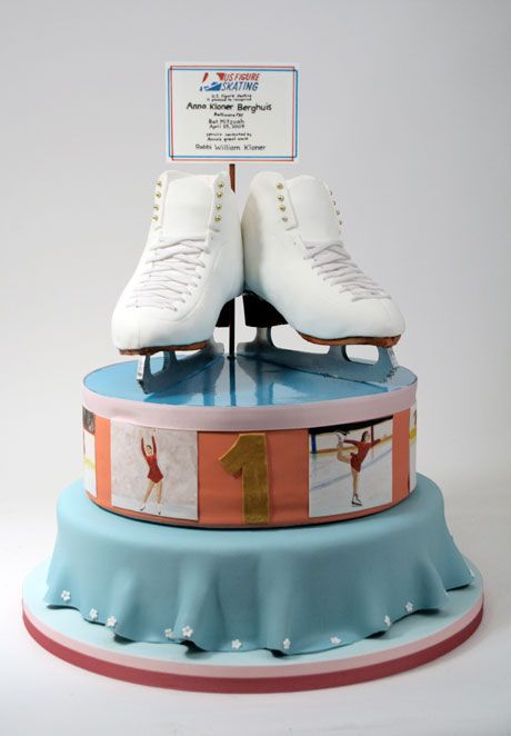 torta de patin sobre hielo