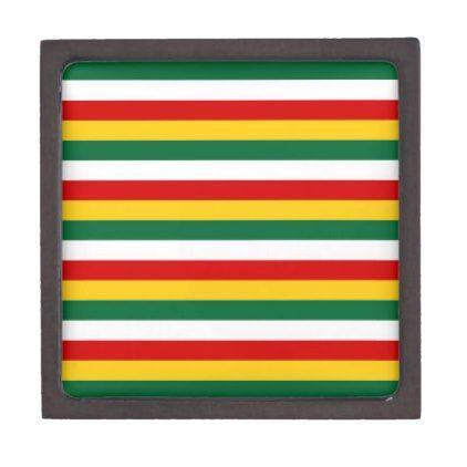 Suriname flag stripes lines pattern gift box - pattern sample design template diy cyo customize