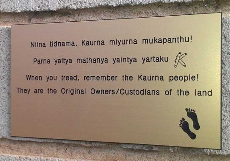 kaurna acknowledgement sign for house