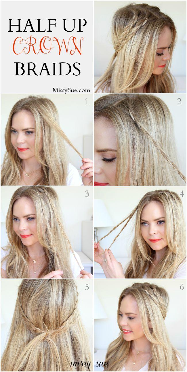 half up crown braids missy sue blog