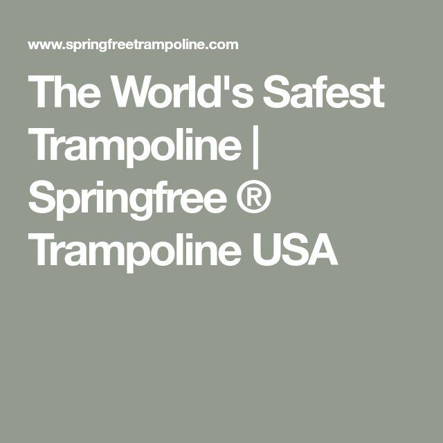 The World's Safest Trampoline   Springfree ® Trampoline USA
