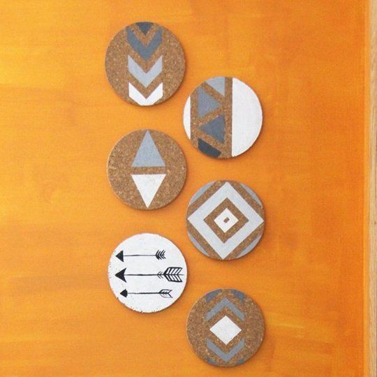 IKEA's Cork Trivet 12 Easy, Clever or Colorful DIY Ways DIY cork board wall art in a Southwestern theme will jazz up a wall in your home. Spotted on Sweet Pea and Saffron.