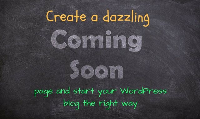To start your blog the right way, you should start with a coming soon page. Find out how you can do that using the UnderConstructionPage WordPress plugin.