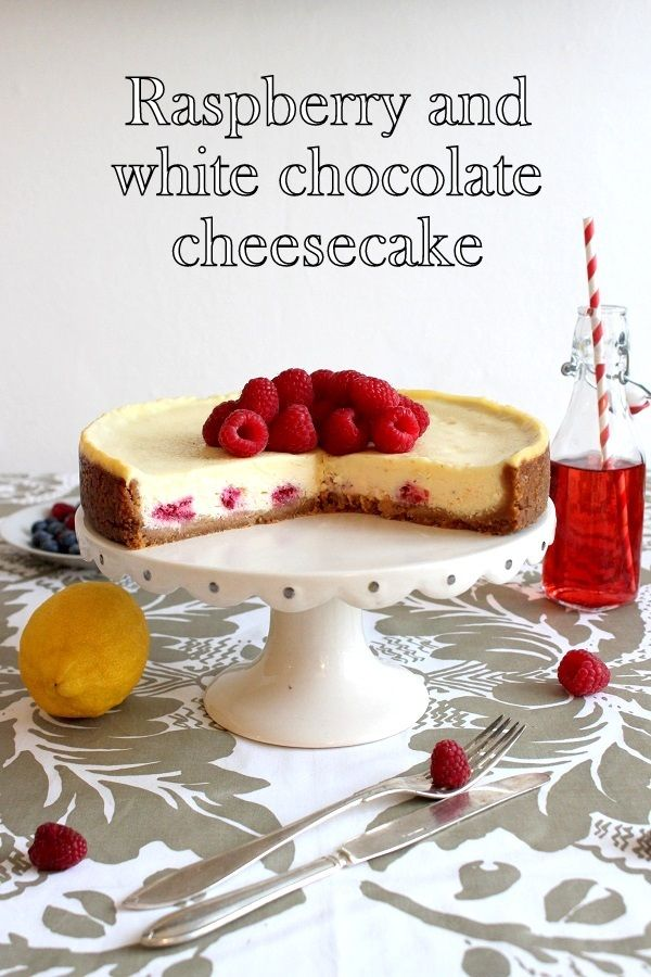 Wicked sweet kitchen: Raspberry & white chocolate cheesecake
