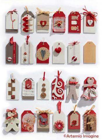 etiquettes de cadeaux de no l en bois trucs et deco noel pinterest no l d co et d coration. Black Bedroom Furniture Sets. Home Design Ideas