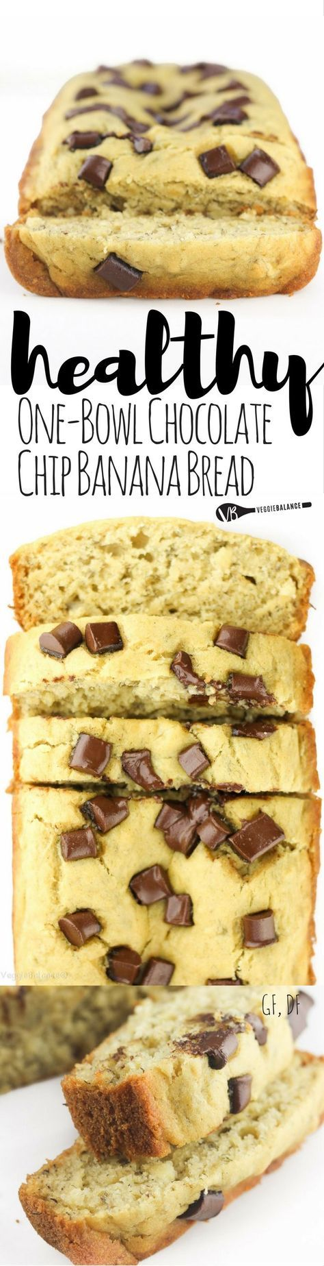 Gluten-Free Chocolate Chip Banana Bread recipe made healthy! The go-to recipe for those weekend mornings. Made healthy with no oil or butter and low-sugar!