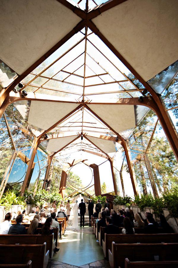 Wayfarer's Chapel in Santa Barbara, photo by Kristen Weaver Photography | via junebugweddings.com