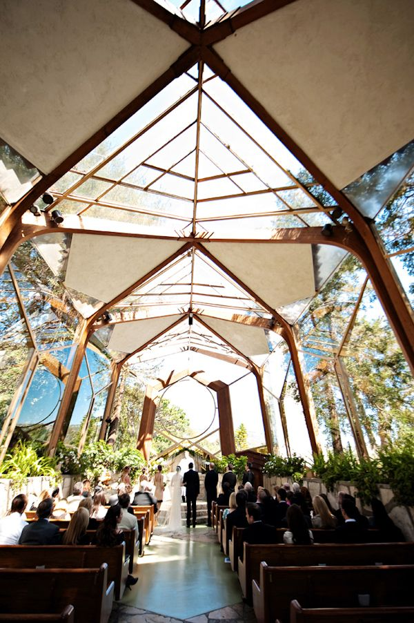 Wayfarer's Chapel in Santa Barbara, photo by Kristen Weaver Photography | via junebugweddings.com