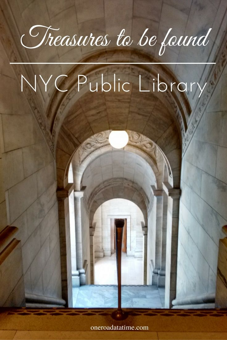 The NYC Public Library is a classic work of architectural design.  Self-guided tours offer the visitor a grand experience.