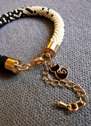 Kup mój przedmiot na #vintedpl http://www.vinted.pl/akcesoria/bizuteria/10200880-piekna-czarno-zlota-bransoletka-z-koralikow