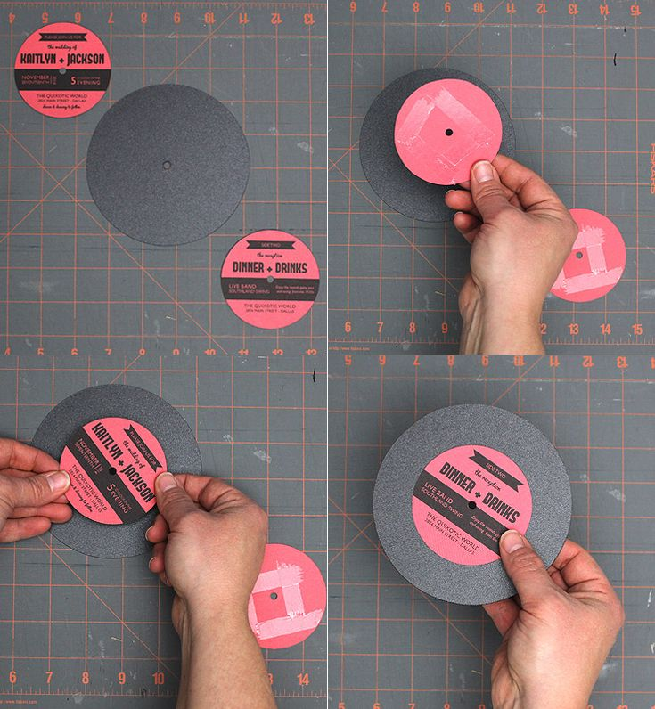 Make your own record wedding invitations!
