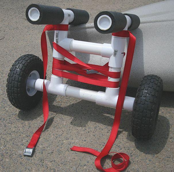 Make own kayak cart the best cart for Harbor freight fishing cart