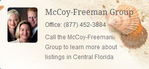 McCoy-Freeman Group Office: (877) 452-3884  Call the McCoy-Freeman Group to learn more about listings in Central Florida http://cocoabeachcondogallery.com/about-us/