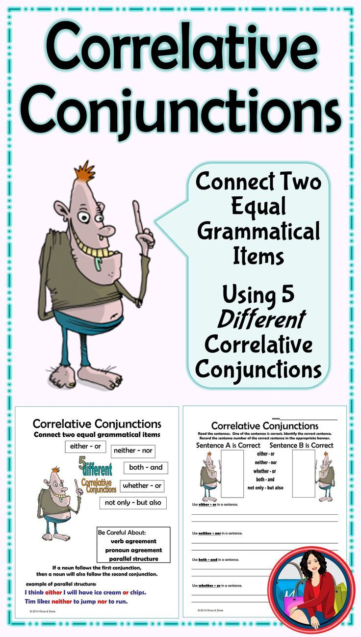 Uncategorized Correlative Conjunctions Worksheet 58 best conjuctions images on pinterest correlative conjunctions task cards or page either neither nor common