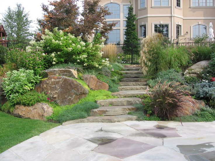 44 best hill landscaping images on pinterest decks for Landscaping a hill with rocks