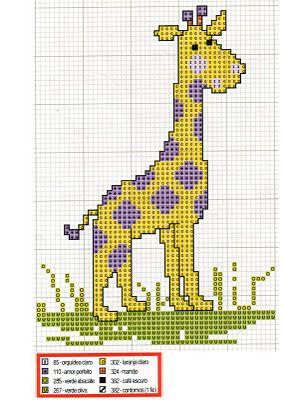 Cross Stitch Giraffe Chart