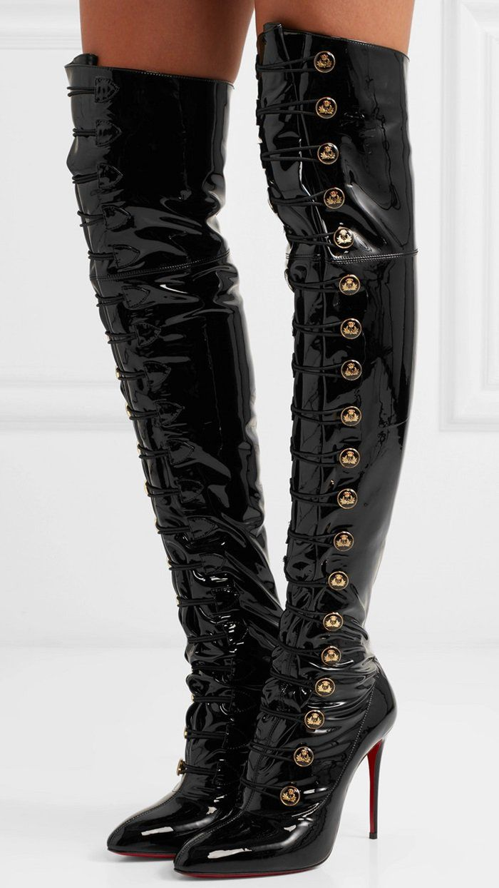 45e7218ae8d6 Christian Louboutin s Frenchissima Alta over-the-knee 100mm boot pays  tribute to the elegance of 1920s France