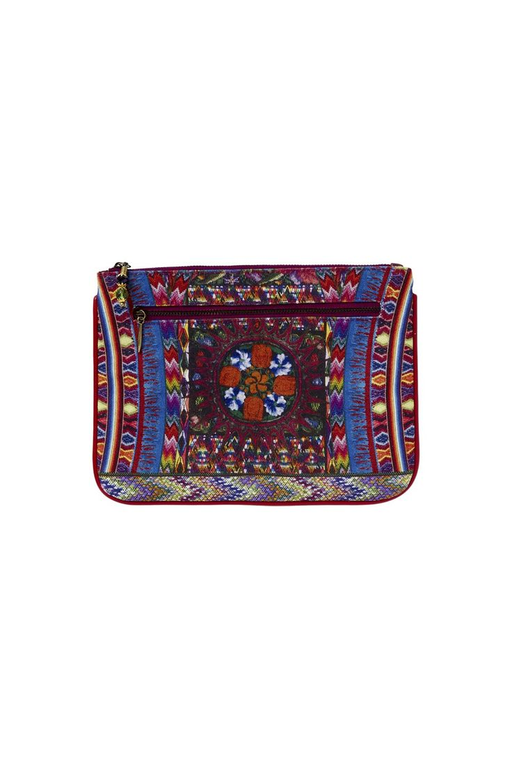 CAMILLA - TAPESTRY OF TIME SMALL CANVAS CLUTCH - Accessories - Shop