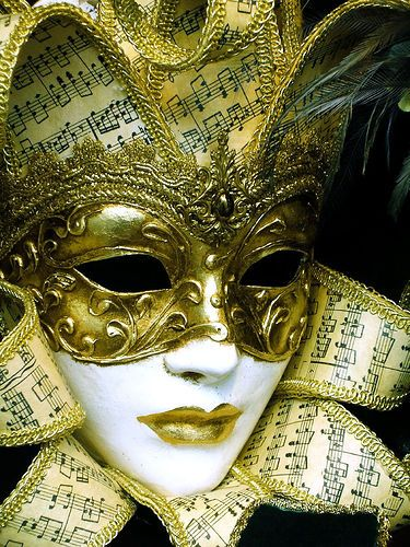 Carnival mask by Alfriston Cottage, via Flickr