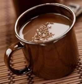 Jacque Torres hot chocolate - dark chocolate is good for you!