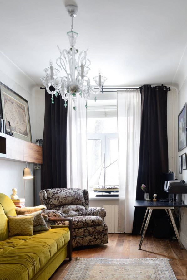 Living Room Curtains Design Ideas 2016. Classic and casual mix of styles with the dark black out double curtains